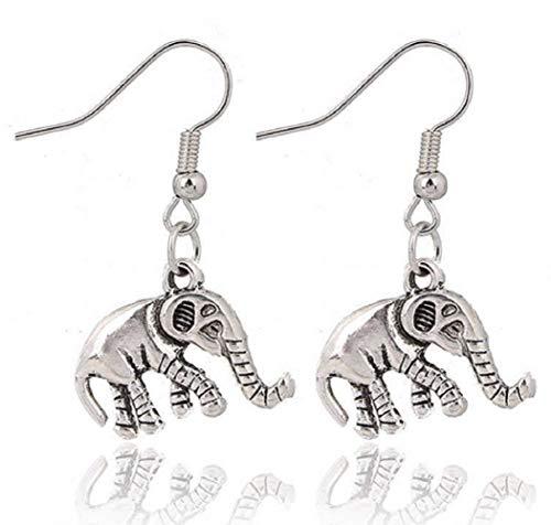Oorbellen met hanger - symbool - olifant