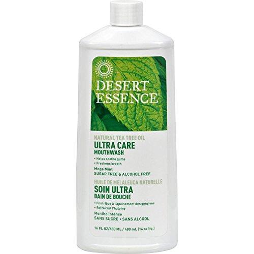 Desert Essence - té Natural árbol aceite cuidado Ultra Mega enjuague bucal menta - oz 16.