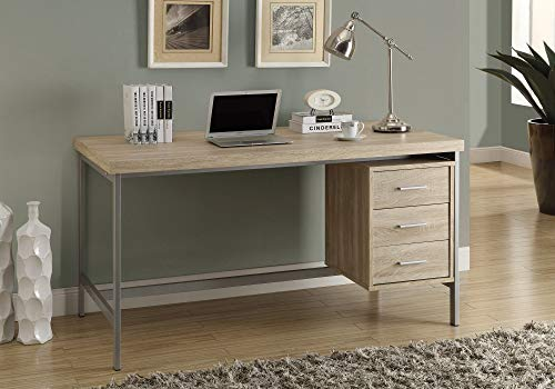 Monarch Specialties I 7245 Home & Office Computer Desk with Drawers-Metal Frame, 60