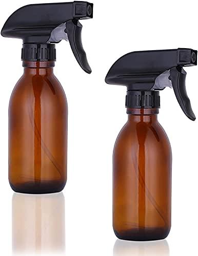 Botella de Spray de Vidrio,Botella de Spray de Vidrio para Plantas,Botellas de Spray Vacías de Ámbar para Limpiar Ventanas, Rociar Plantas (150ml)