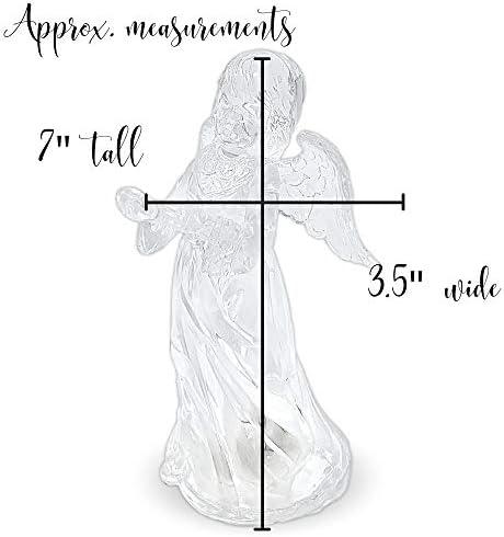 Clear glass angel figurines _image1