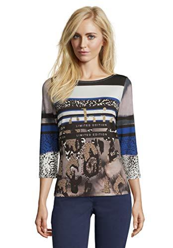 Betty Barclay Damen 4681/0596 T-Shirt, Mehrfarbig (Grey/Black 9891), (Herstellergröße: 38)