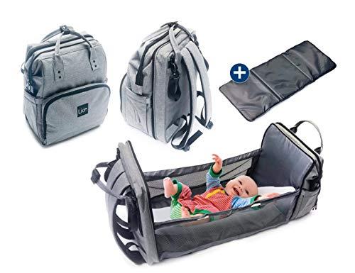 LIKIE Wickelrucksack mit Bettfunktion   Wickeltasche mit Babybett für unterwegs   Bett...