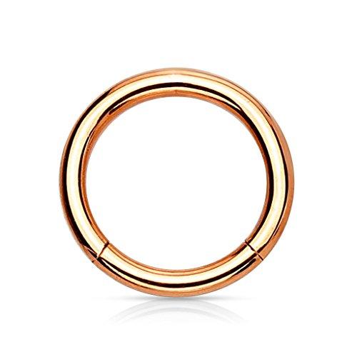 eeddoo Piercing-Ring Segmentring Rosegold Edelstahl 1,2 x 14 mm