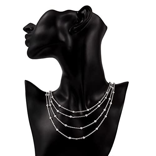 ZHIHUIYU Collar de Plata de Ley 925 Fina, joyería de Estilo Europeo, Popular para Mujer, Cadena de Abalorios Dulces para Mujer, Regalo de San Valentín a la Moda