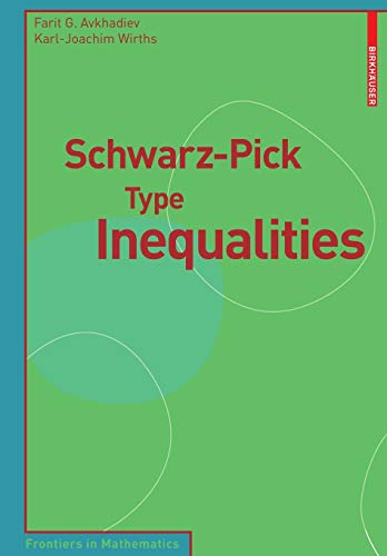 Schwarz-Pick Type Inequalities (Frontiers in Mathematics)
