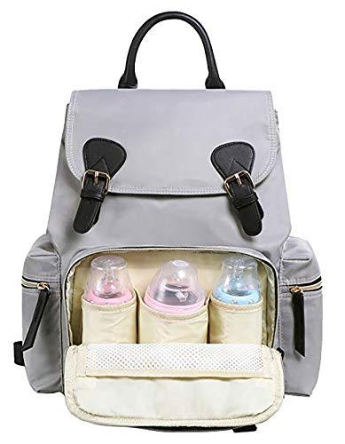 Große Wickeltasche wasserdicht Babytasche, Rucksack Mama   Kinderwagen Befestigung   mit Schultergurt verstellbar   viele Fächer   Deutscher Verkäufer