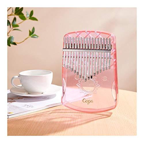 JSNRY Daumenklavier Tragbarer Kristall TransparentKeyboard Finger Klavier Musikinstrument Leistung Kleines Musikinstrument ( Color : Crystal Pink )