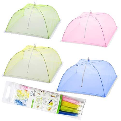 Carpas con cubierta de malla de 4 piezas para mantener los insectos y las moscas lejos de la comida en picnics, barbacoa y más
