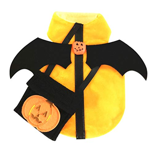 Why Choose Halloween Pet Dog Shirt | Cute Pet Dog Halloween Pumpkin Clothes Costume Winter Warm Fest...