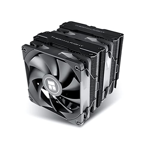 Thermalright PA120 Disipador CPU con 6 Tubos de Calor, Ventilador Dual PWM de 120 mm, Enfriador de CPU Intel AMD AM4 (Black)