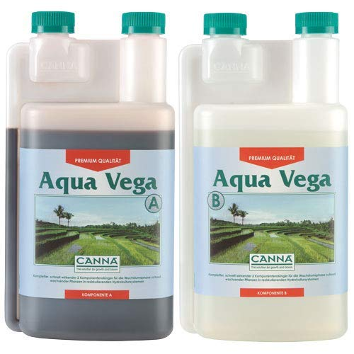 Canna Dünger Aqua Vega A&B 2 x 1 Liter Wuchs