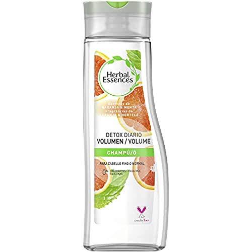 Herbal Essences Detox Diario Volumen Shampooing pour cheveux fins ou normaux avec orange et menthe, inspiré de la nature, 400 ml