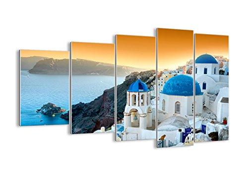 Quadro su Vetro - Cinque 5 Tele - Larghezza: 150cm, Altezza: 100cm - Numero dell'immagine 2529 - Pronto da Appendere - Elementi Multipli - Arte Digitale - Moderno - Quadro in Vetro - GEG150x100-2529