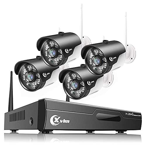XVIM 2MP Wireless Security Camera System, 4CH...