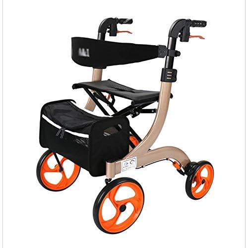 SFSGH Bastidor para Caminar Andador con Andador estándar Andador con Andador para Personas Mayores, Andador Ligero con Asiento y Ruedas Ayudas médicas para Caminar Marco para Andar con r