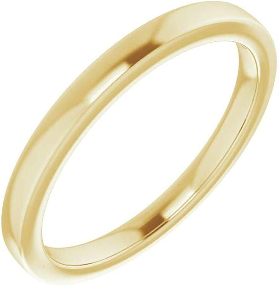 Solid 10K Yellow Gold Curved Notched Wedding Band for 12mm Cushion Ring Guard Enhancer - Size 7