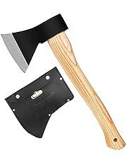 斧 野外キャンプ用品 薪割り 手斧 38cm 鉈 ガーデン用手斧 ケース付き 焚き火台