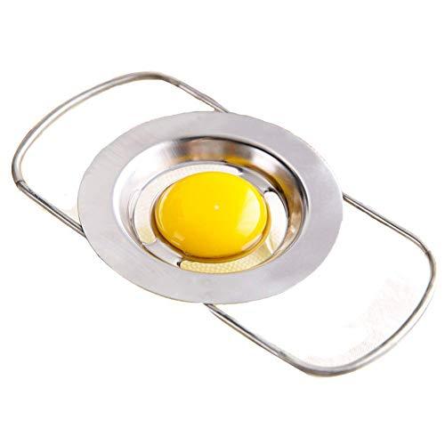 Eiertrenner aus Edelstahl mit Teleskop-Eigelbfilter für Kochen Küche Gadget