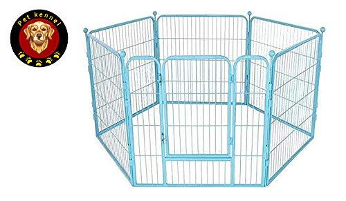 RAXYQ Pet Cage Black Pet Puppy Kleine Und Mittlere Hundelaufstall Portable Indoor Outdoor Folding Hundekäfig Durable Einfach Zu Montieren,Blue-70×70cm*6
