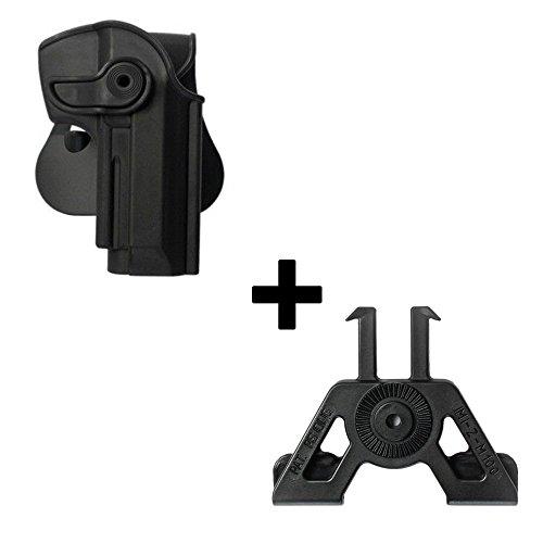 IMI Defense Tactical retention rotating 360 roto paddle polymer Holster + Molle adapter attachment for Beretta 92/9 Llama 82 Cheetah FS85 Hunter pistol handgun