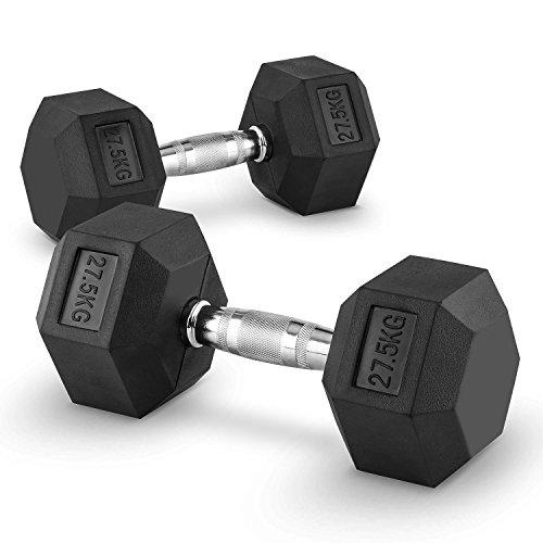 Capital Sports Hexbell 7,5 Bilanciere Coppia Pesi 7,5 kg