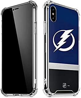 Skinit Clear Phone Case for iPhone Xs Max - Officially Licensed NHL Tampa Bay Lightning Alternate Jersey Design