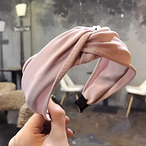 WeiHaoJian 6 Piezas Mujer Yoga Elástico Lindo Diadema Turbante con Nudo Diadema Bandanas Diadema Creativo ala Ancha Sombreros Accesorios Diadema
