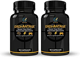 eAdvantage: Nootropic Gaming Supplement for Memory, Focus and Energy (180 Capsules)