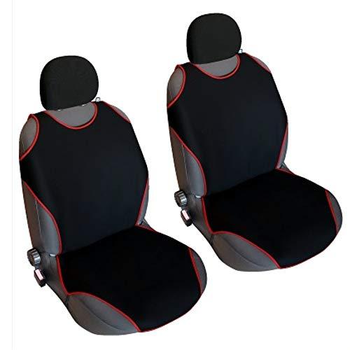 Akhan CSC405 - 1 Paar (2 Stück) Sitzbezug Sitzauflage Sitzschoner Schwarz