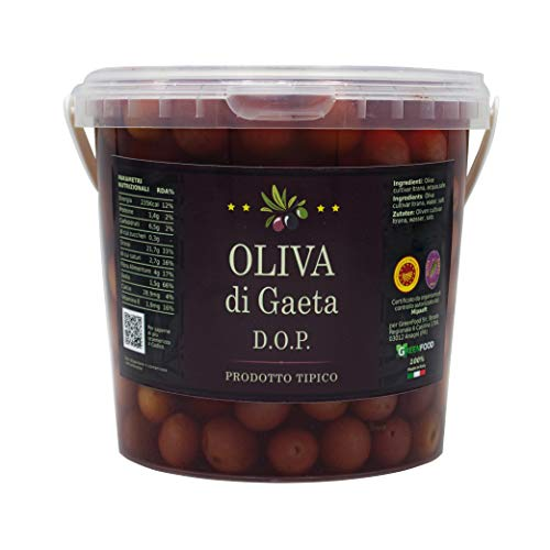 Olive Di Gaeta DOP 100% Prodotto Italiano (Secchiello kg 0,900)