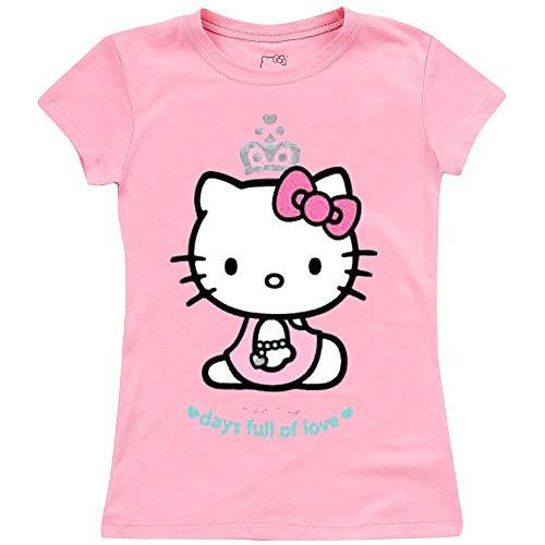 Le fantasie di casa Maglietta da Bambina Hello Kitty Rosa 24 Mesi Centimetri 92 in Cotone.