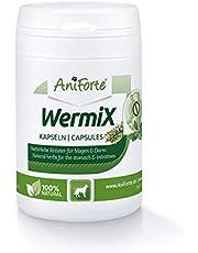 AniForte WermiX para Perros 50 cápsulas - Producto Natural Antes, Durante y después de la desparasitación y la infestación de lombrices, Las Hierbas Naturales armonizan el estómago y el intestino