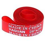 Fodera per pneumatici, 2 pezzi PVC Rosso Protezione contro le forature per pneumatici per ...
