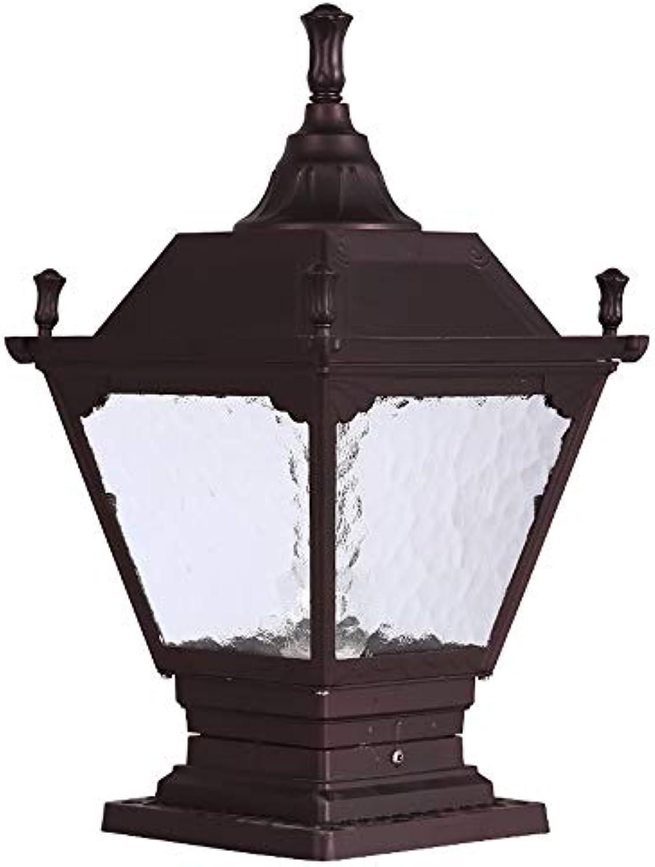 Hines Europische Outdoor Glass Spalte Lampe Antique Victoria Landschaft Zaun Villa E27 Dekoration Wasserdichte Tischlampe Straenlaterne Regendicht Rostverhinderungssule Licht (Gre   S)