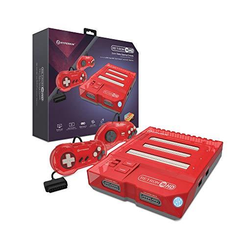 Hyperkin RetroN 3 HD 3-in-1 Retro Gaming Console for NES, Super Famicom, and Genesis/ Mega Drive (Jasper Red) - Super NES