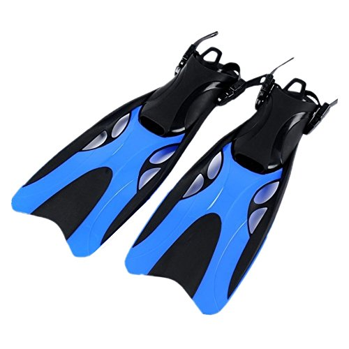 Subobo Schwimmflossen Tauchflossen Flossen der Männer und der Frauen Schnorcheln Schwimmenflossen Einfach zu bedienen für zusätzlichen Komfort (Farbe : Blau, Größe : L/XL(42-47))