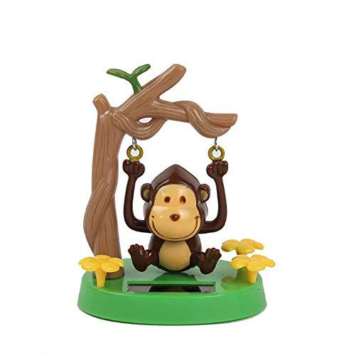 Gwill 2 unidades de juguete con energía solar para bailar con forma de animal, regalo para decoración del coche, juguete para niños