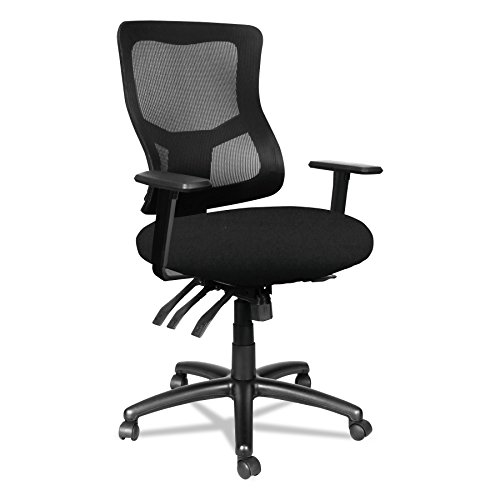 Alera Elusion II Series Mesh Mid-Back Multi-Function with Seat Slide Chair, Black