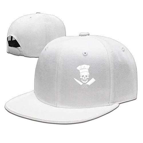 Skull-Chef Cooking Skull Hat Grill Master Unisex Style Strapback Hat