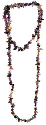 budawi® - bunte Turmalin Kette Halskette ca. 90 cm, mehrfarbige Turmalinkette
