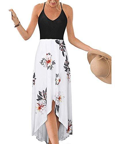 DURINM Copricostume Donna Mare Floreale Abiti Donna Estivi Estate Casual Senza Maniche Corte Spiaggia Vestiti da Vacanza,Abito da Spiaggia