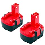 Moticett 2X 14.4V 3.0Ah de Remplacement pour Bosch Batterie Ni-MH BAT038 BAT040 BAT041 BAT140 BAT159 2607335685 2607335533...