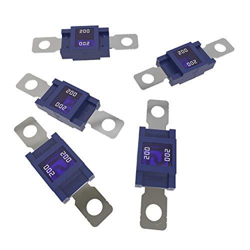 AUPROTEC Mega Hochstromsicherung Schraubsicherung 80A - 500A Auswahl: 200A Ampere blau, 5 Stück
