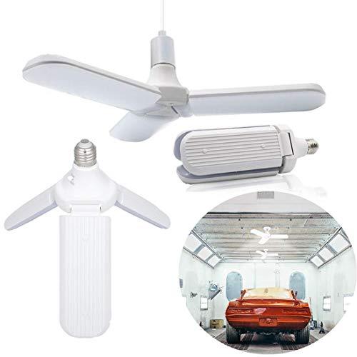 Led-garageverlichting, gloeilamp E27 36W/45W 3200K/6500K werkplaatslampen, vervormbaar, led-plafondlamp voor werkplaats, schuurlager kelder, plafondverlichting