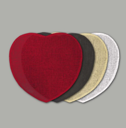 couleur montagne set de table (0)38cm fibre papier coeur rouge