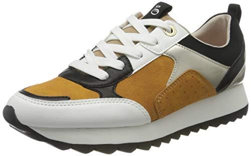 s.Oliver Damen Da-Schnürer Sneaker, Gelb, 40 EU