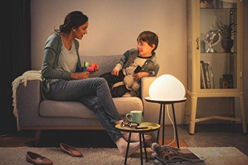 Philips Hue LED Tischleuchte Wellner inkl. Dimmschalter, alle Weißschattierungen, steuerbar auch via App, Glas, weiß, 4440156P7 - 7
