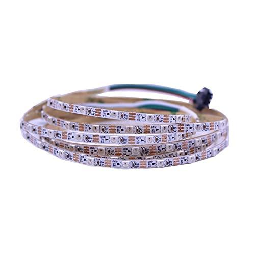 ZZSSC LED de Tira LED WS2812B RGB 60 Leds 144 Leds 4 mm 5 mm 8 mm Ancho PCB SK6812 LED Luces 3535 5050(White PCB,5050 60leds 5mm PCB-2m)