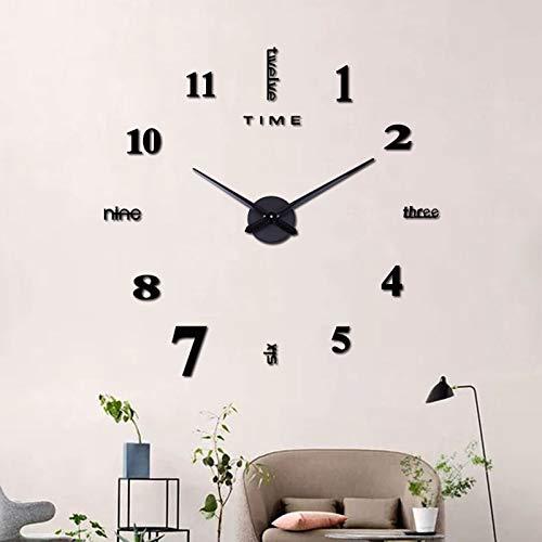 MOMOJIJI Reloj de Pared 3D DIY Moda Reloj de Etiqueta de Pared...